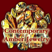 Amber, a naturally occurring gemstone, are handcrafted into contemporary Amber jewelry