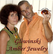 Polish artisans Danuta and Mariusz Gliwinski, designers of Sterling Silver jewelry and Baltic Amber Jewelry